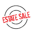 estate sale rubber stamp vector image vector image