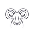 funny ibex line icon concept funny ibex vector image