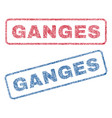 ganges textile stamps vector image vector image