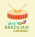 happy brazilian carnival day carnival circus vector image