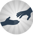 Helping hands flat icon vector image