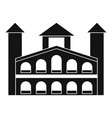 historical building icon simple style vector image vector image