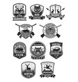 hunting club hunt adventure icons set vector image vector image
