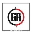 initial gr letter logo template design vector image vector image