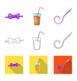 isolated object of party and birthday logo set of vector image vector image