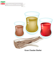 Kesar Chandan Sharbat Popular Drink in Iran vector image vector image
