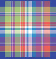 madras pixel plaid seamless pattern vector image vector image