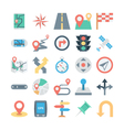 Map and Navigation Colored Icons 1 vector image vector image