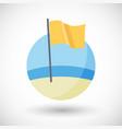 medium hazard beach flag icon vector image vector image