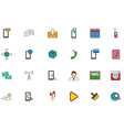 Mobile services colorful icons set vector image vector image