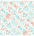 multiple sclerosis seamless pattern vector image vector image