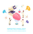 nanotechnology isometric concept vector image vector image