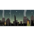 Night City Landscape Cartoon vector image