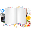 notepad with s vector image vector image