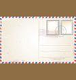 old retro vintage postcard vector image vector image