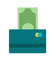 one hundred euro banknotes being vector image
