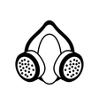 outline mask and respirator protective equipment vector image vector image