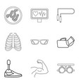 population health icons set outline style vector image vector image