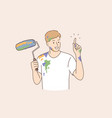 professional painter decorator builder worker vector image