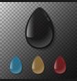 realistic drop liquid water sunflower vector image