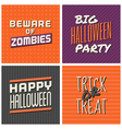 retro design Halloween greeting cards vector image