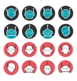 robot heads collection vector image vector image