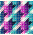 seamless hounds-tooth pattern vector image vector image