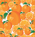 seamless pattern with orange on white background vector image