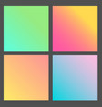 set of gradient futuristic square design vector image