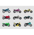 Set of Motorcycle Design Flat Style vector image vector image