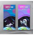 set space flyers brochure template design vector image vector image