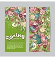 set vertical banners on theme spring vector image vector image