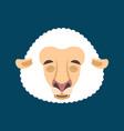 sheep sleeping emotion avatar face ewe asleep vector image vector image