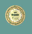 single round label for organic products vector image