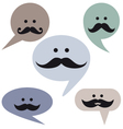 Speech bubble faces with mustaches