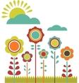 spring sale flower field vector image vector image