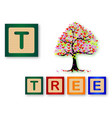 t is for tree vector image vector image