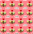 take away hot coffee cups seamless pattern vector image vector image