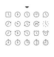time ui pixel perfect well-crafted thin vector image