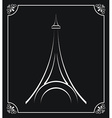 tower eiffel design vector image vector image