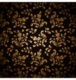 Gold leaves on black vector image