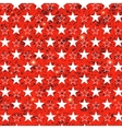 Starry Grunge Red Background vector image
