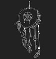a dream catcher with vector image vector image