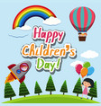 a happy children template vector image vector image