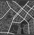abstract black and white city map city vector image vector image