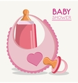 Baby bottle bib and pacifier design vector image vector image