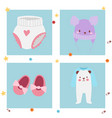 baby toys banner cartoon family kid toyshop design vector image vector image