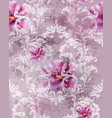 baroque texture pattern with roses floral vector image vector image