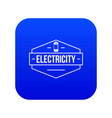 battery icon blue vector image vector image