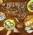 beautiful breakfast vector image vector image